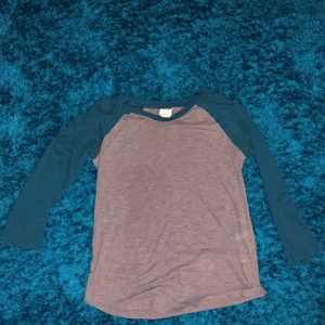 Blue & Grey Baseball Tee from PINK
